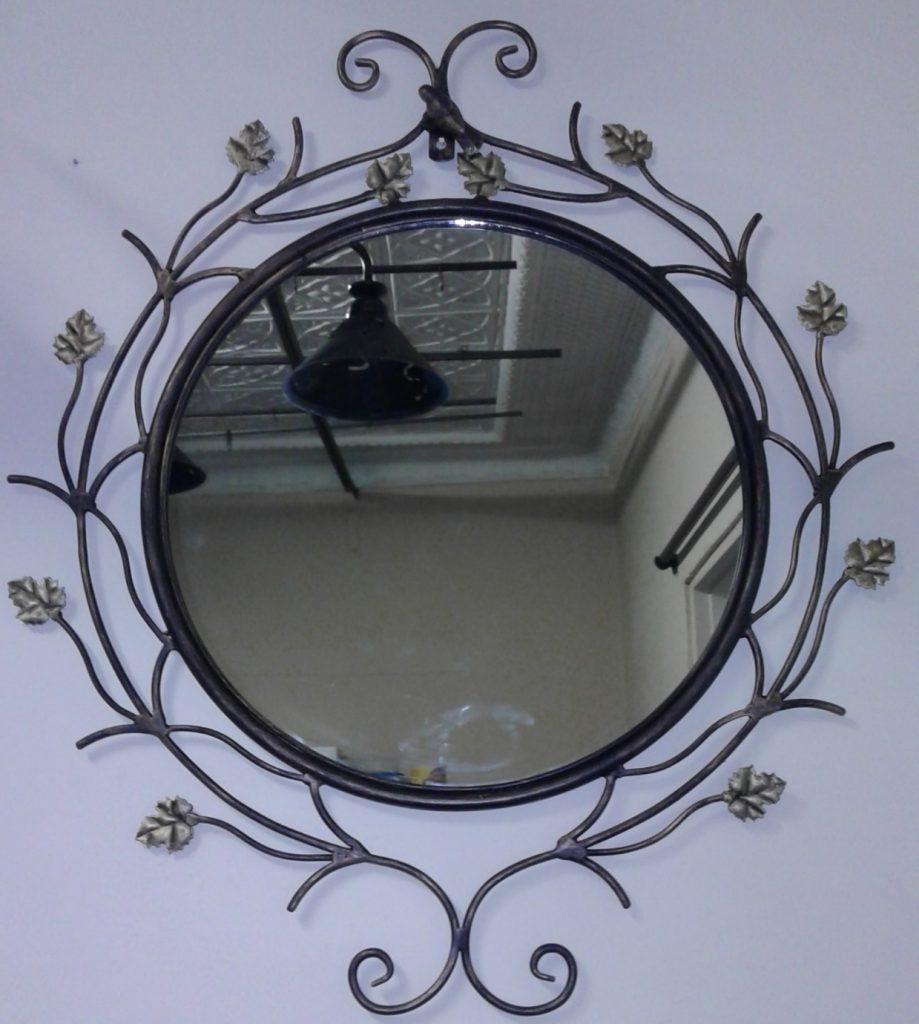 Wrought iron wall mirror exclusivio for Wrought iron mirror