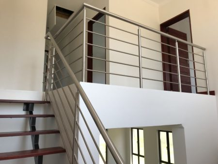 Mild steel staircases, stainless steel handrailing ...